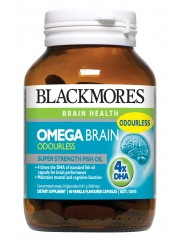 Blackmores Omega Brain Odourless, Super Strength Fish Oil, 60 Capsules